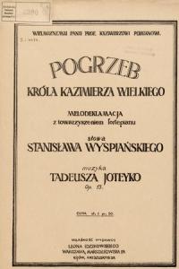 Pogrzeb Kazimierza Wielkiego - Wyspiański
