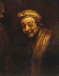 Rembrandt - Autoportret jako śmiejący się Zeuksis