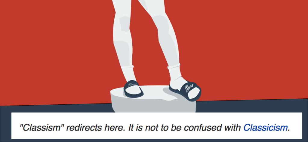 klasizm -  skarpety do sandałów, dyskryminacja klasowa